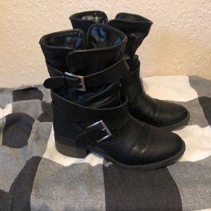 Just Fab Black Moto boots
